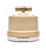 Выключатель поворотный Бежевый Salvador OP11GD для наружного монтажа
