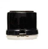 Розетка с заземлением и шторками Черная Salvador ОР12BL  для внутреннего монтажа