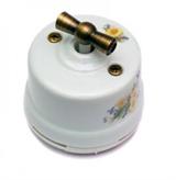 Выключатель поворотный Ромашка Salvador OP11RM для наружного монтажа