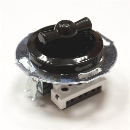 Выключатель Vintage 880705-4 черный/черный