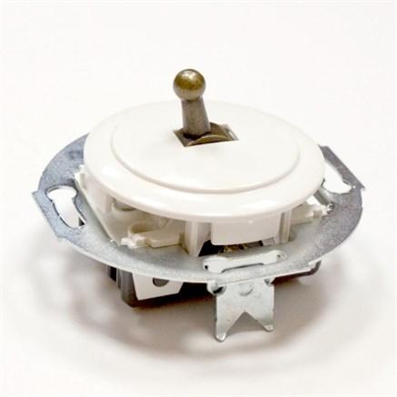 Выключатель тумблерный Vintage 880804-2 , белый/бронза