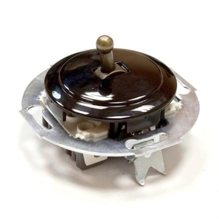Выключатель тумблерный Vintage 880805-2, черный/бронза