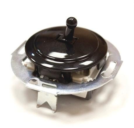 Выключатель тумблерный Vintage 880805-4 , черный/черный
