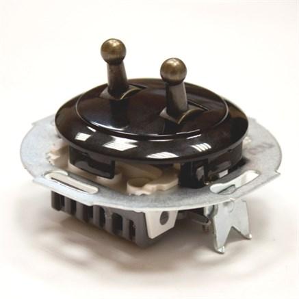 Выключатель 2кл, тумблерный Vintage 882304-2, Черный/Бронза