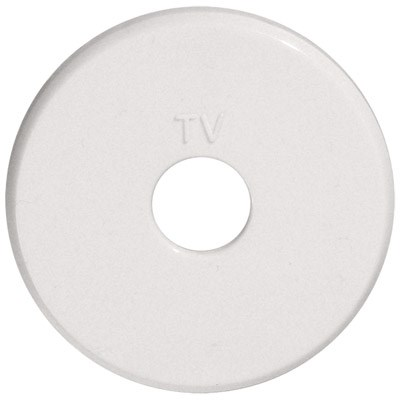Накладка розетки  TV Vintage, белая