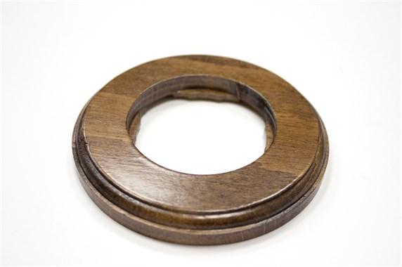 Рамка 1-постовая, круглая, бук натуральный Vintage 1М-БН11 - фото 10707