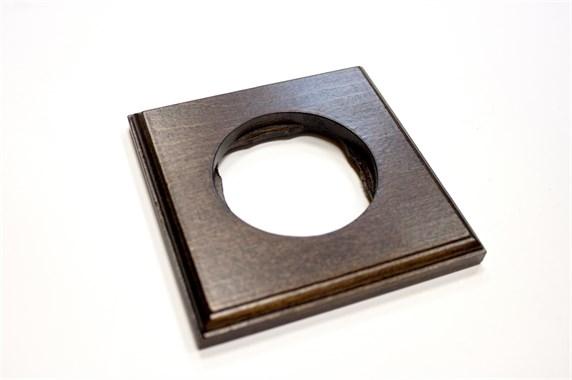 Рамка 1-постовая, квадрат, бук натуральный Vintage 1М-БН21 - фото 10778