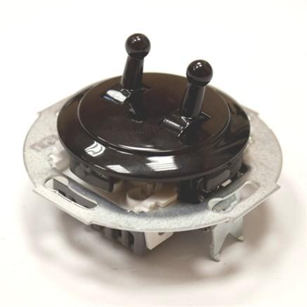 Выключатель 2кл, тумблерный Vintage 882305-3, Черный/Черный
