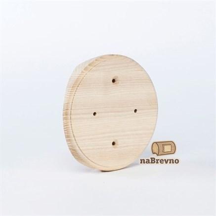 Накладка на бревно круглая для распределительной коробки  до 105 мм.