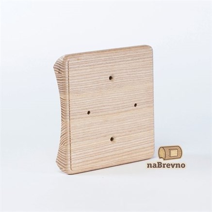 Накладка на бревно квадратная для распределительной коробки до 105 мм.