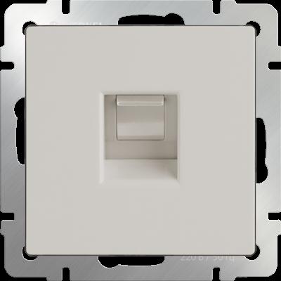 Телефонная розетка  RJ-11(слоновая кость) WL03-RJ-11-ivory - фото 11308