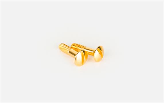 Винты для распределительной коробки/TV  розетки 2 шт. (золото) Ретро WL18-22-01 - фото 11434