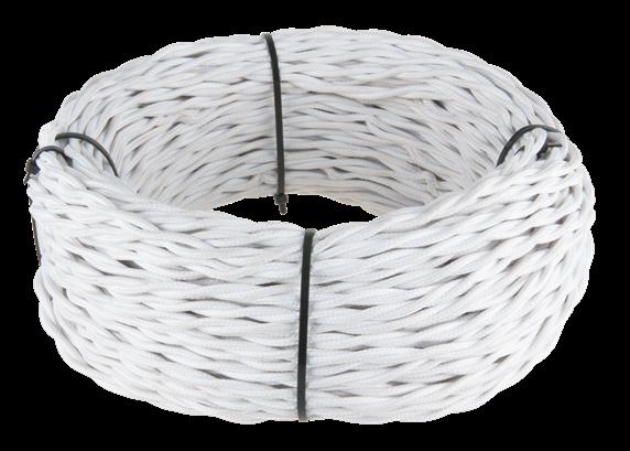 Ретро кабель витой  3х1,5  (белый) - фото 11442