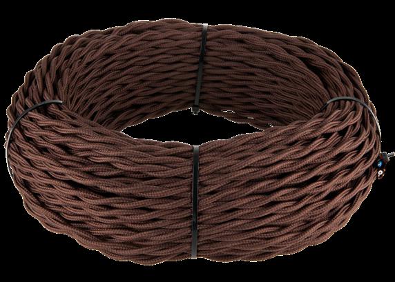 Ретро кабель витой  3х1,5  (коричневый) - фото 11443