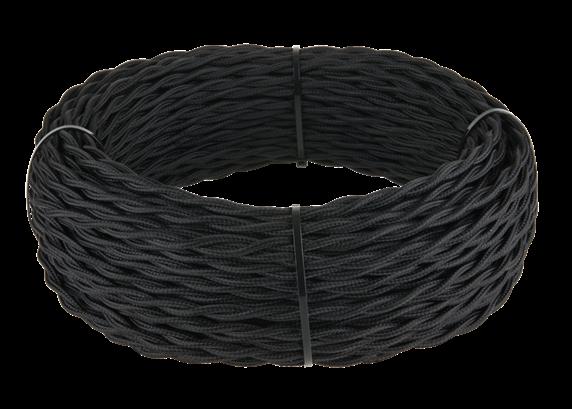 Ретро кабель витой  3х1,5  (черный) - фото 11444