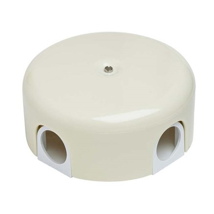 Распределительная коробка пластиковая 110 мм Слоновая кость, Bironi B1-522-211