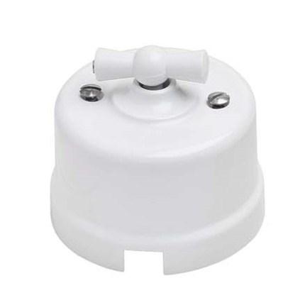 Выключатель ретро пластиковый, Bironi B1-201-21