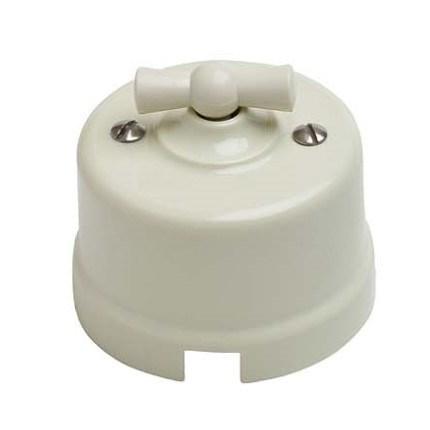 Выключатель ретро пластиковый, Bironi B1-201-211