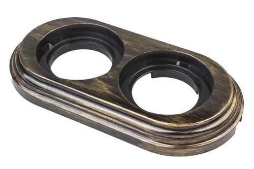 Рамка 2х-постовая, пластик, Bironi BF1-620-25