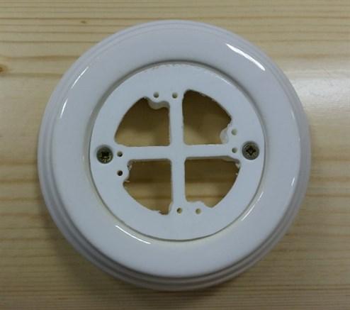 Керамическая накладка на бревно 1-местная, универсальная, белая