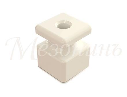 Изолятор фарфоровый квадратный Белый Мезонин GE80025-01