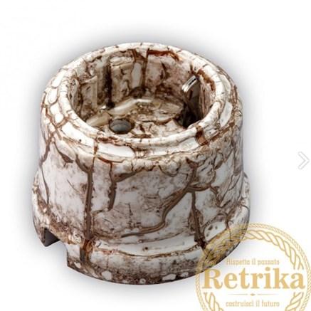 Розетка с заземлением цвет мрамор, Retrika - фото 12290