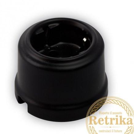 Розетка керамическая Матовая черная, Retrika RS-80009