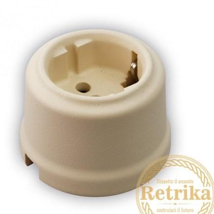 Розетка керамическая Матовая Слоновая Кость, Retrika RS-800010? - фото 12303