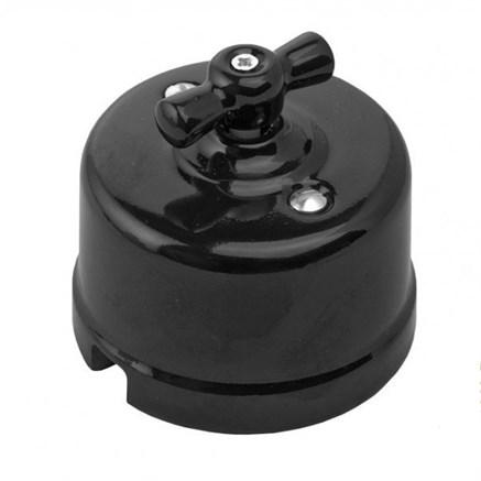 Выключатель Черный Retrika R-SW-18
