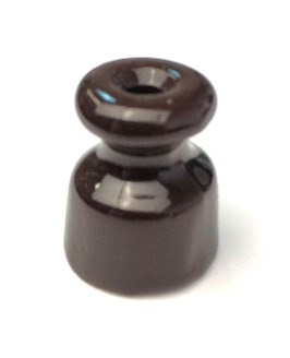 Изолятор Ретро Коричневый для проводки IBROTM-2420