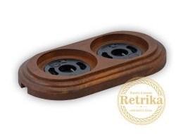 """Рамка двойная """"Американский орех"""" Retrika RD-02024"""