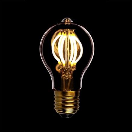 Лампа светодиодная диммируемая А60, 4W, Е27 GOLD 2200K, Sun-lumen 057-127