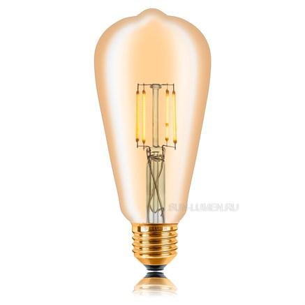Ретро лампочка светодиодная ST64 LED Sun-lumen 057-271