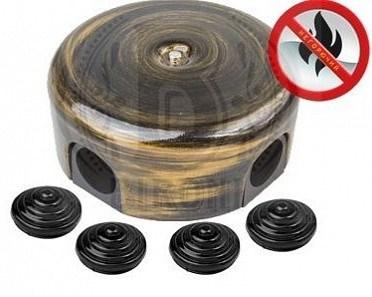 Распределительная коробка ретро пластиковая 110 мм Бронза, Bironi B1-522-25-К - фото 15240