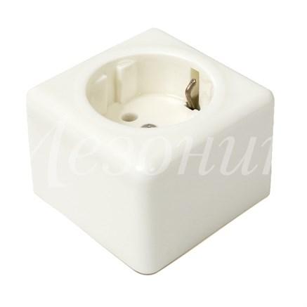 Розетка фарфоровая квадратная Мезонин GE80301-01 - фото 17091