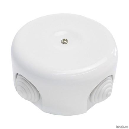 Распределительная коробка ретро керамическая Белая
