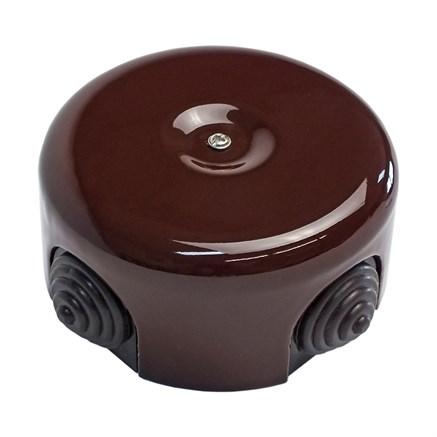 Распределительная коробка ретро керамическая Коричневая
