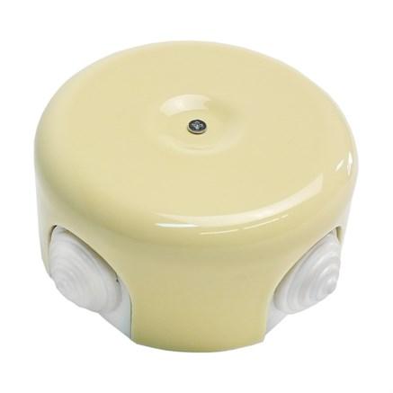 Распределительная коробка керамическая Ваниль
