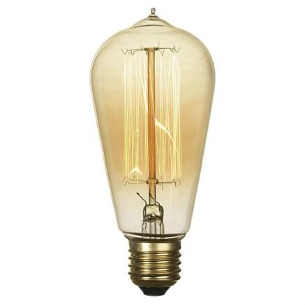 Лампа накаливания E27 60W 2700K прозрачная GF-E-764 - фото 30327