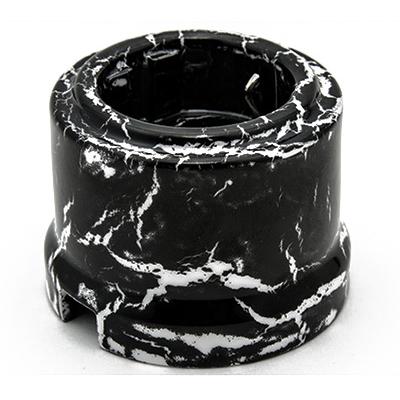"Розетка с заземлением ""ЛИЗЕТТА"" цвет Черный мрамор BIRONI - фото 4801"
