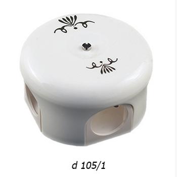 """Распределительная коробка (78 мм и 110 мм) """"Лизетта"""" с декором d 105/1 BIRONI - фото 4949"""
