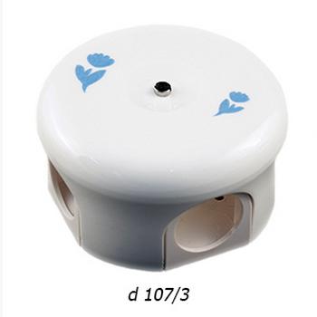 """Распределительная коробка (78 мм и 110 мм) """"Лизетта"""" с декором d 106/2 BIRONI - фото 4957"""