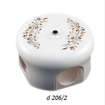 """Распределительная коробка (78 мм и 110 мм) """"Лизетта"""" с декором d 206/2 BIRONI - фото 4961"""