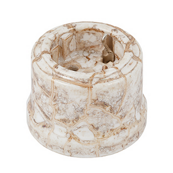 Розетка с заземлением цвет мрамор, Retrika - фото 5354