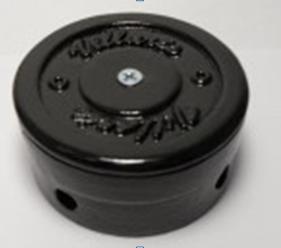 Распаячная коробка Черная D90 Villaris - фото 5509