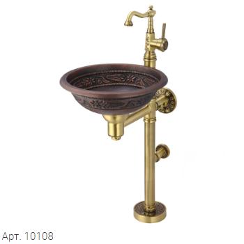 Медная раковина 10108 Bronze de Luxe - фото 5690