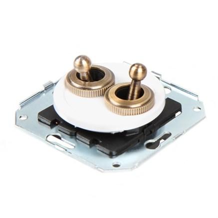 Выключатель 2-х тумблерный  CL51 для внутреннего монтажа проходной Salvador - фото 6278