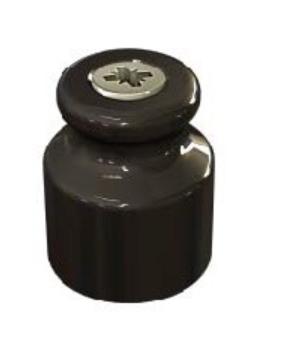 Изолятор фарфоровый Черный Мезонин
