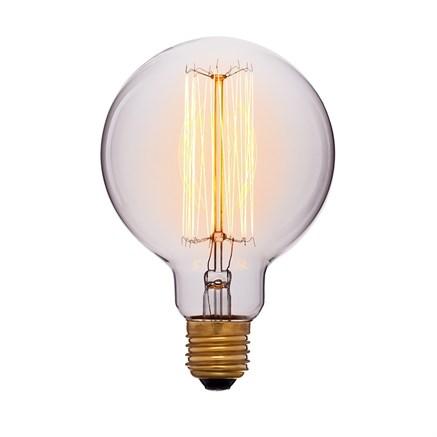 Лампа прозрачная G95 F2 60Вт, Sun-lumen 052-290