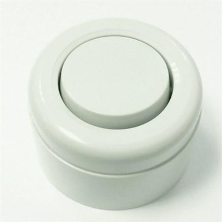 Выключатель ретро пластиковый Белый 1-клавишный